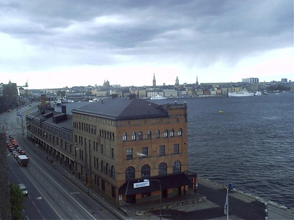 vista de ciudad vieja Gamla Stan y lago Mälaren Estocolmo Suecia 04