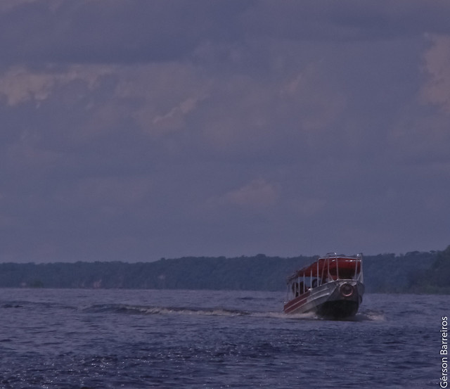 Boat on its way
