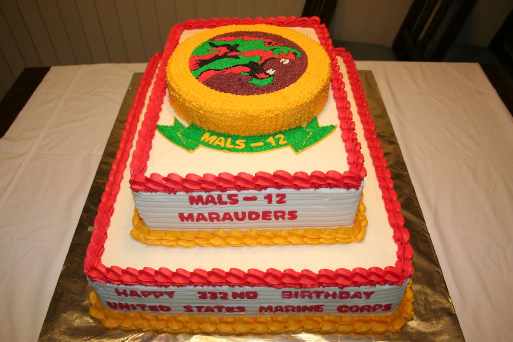 Mals 12 Marauders Marine Corps Birthday Cake Please Let Me Flickr
