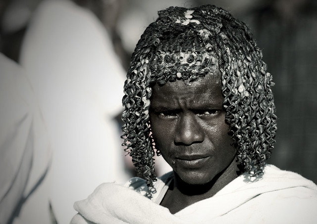 Image result for An Afar man of Ethiopia with buttered hair