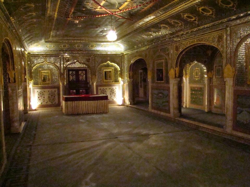 salon de Espejos Palacio de Samode India 14