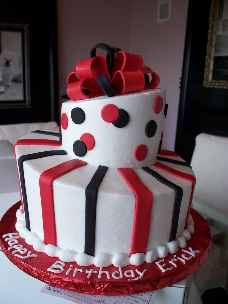 Black And Red Topsy Turvy Man S Birthday Cake Simple And N Flickr