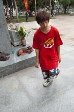 Breakdance im Chua Quan Thanh - Platz
