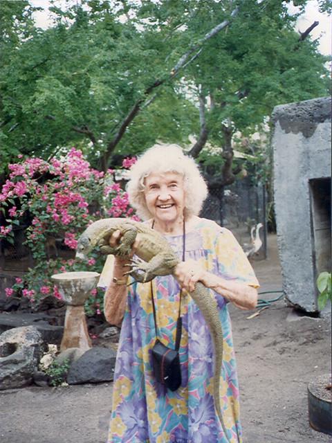 Grandma Cushing at the Zoo