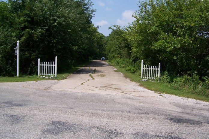 Old National Road as somebody's driveway