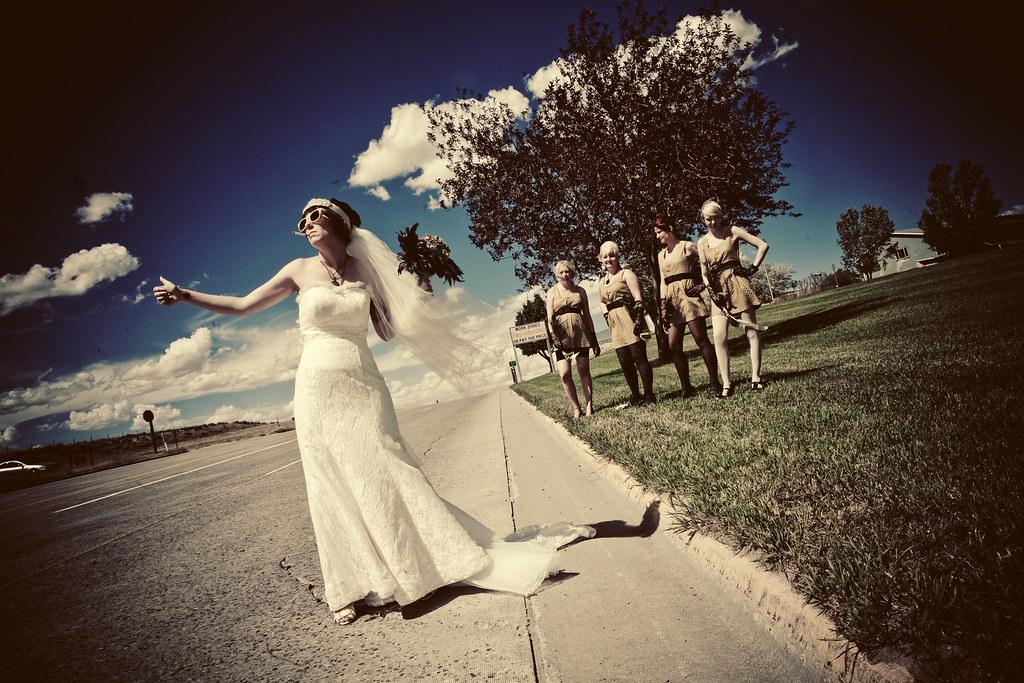 Hitchhiking bride