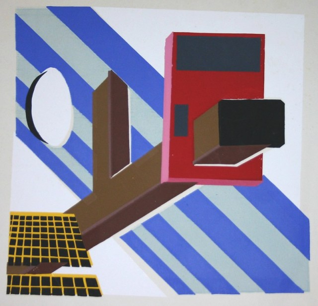 Untitled Abstract Silkscreen Print