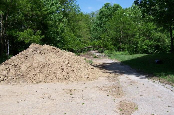 A mound of dirt