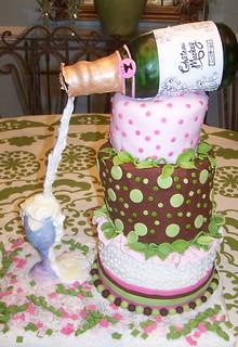 Happy 50th Birthday Kathleen Champagne Celebration Cake Flickr