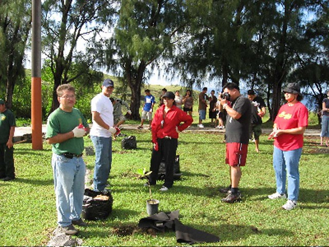 Planting at Fort Soledad, 2006