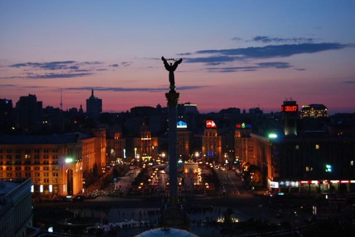 Kiev hora atardecer