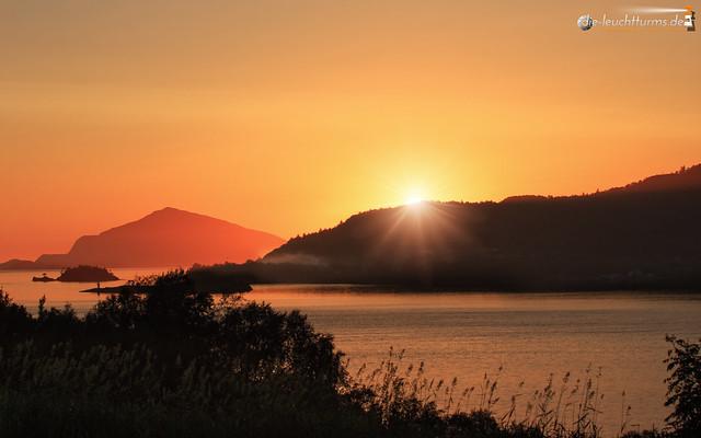 Sunset above Gurskøy