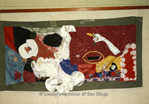 AIDS Quilt at San Diego Golden Hall,1988: quilt dedicated to Gary Melanie Cox