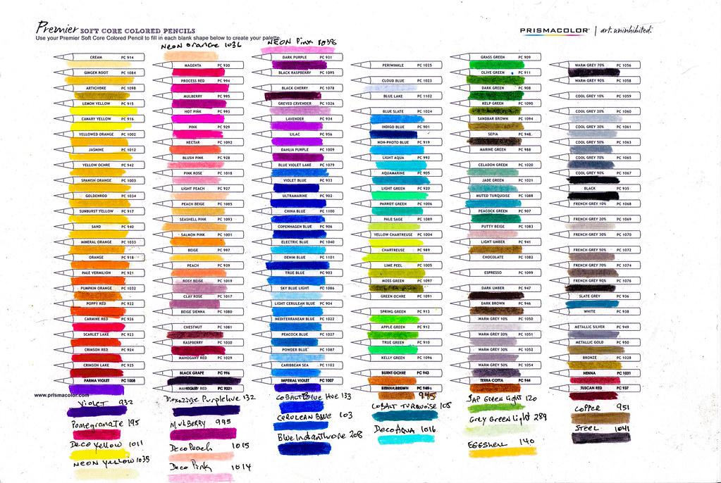 New Colored Prismacolor Pencils Premier