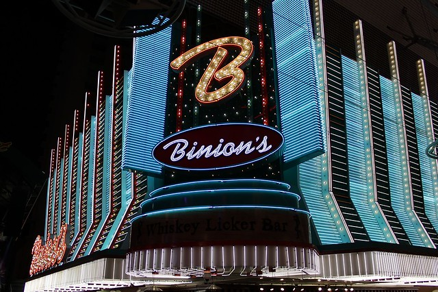 Binion's Gambling Hall in downtown Las Vegas.