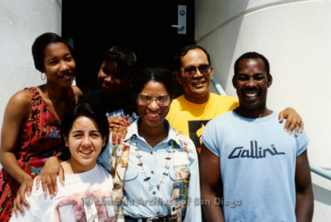 P240.137m.r.t The Center, Normal Street: Back row: Chiquita Monk, Michelle Bruce, Vincent Baleda. Front Row: Michelle Suavengo, Nola Butler Byrd, David Mollet.