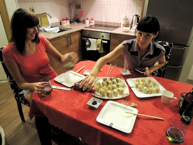 Dorota, a sushi virgin, and Nataly, the sushi expert by bryandkeith on flickr