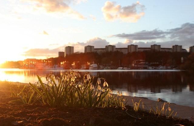 Aprilkväll på Hornsbergs strand