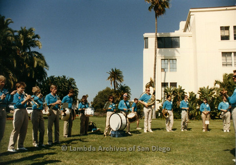 P012.026m.r.t San Diego Walks for Life 1986: America's Finest City Freedom Band playing