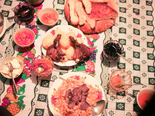 Invited into this person's house, best plov I had in Central Asia, with yak meat