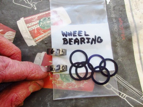 Cycle Works Wheel Bearing Preload Adjustment Kit For One Wheel