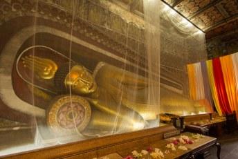 terwijl binnen Buddha zoals gewoonlijk lekker ligt te maffen