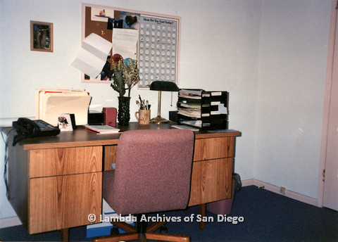 P238.023m.r.t San Diego LGBT Center: Cleaned desk in the corner