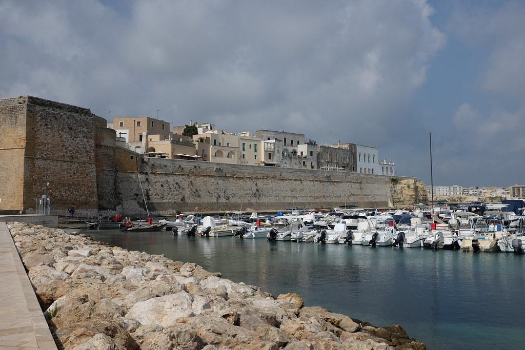 Harbor and old center of Otranto