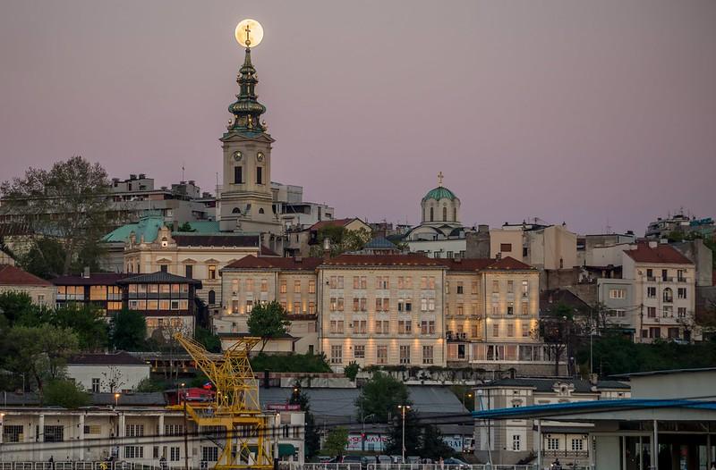 Full Moon over Belgrade