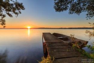 Sonnenaufgang mit Boot.