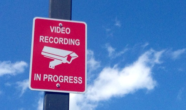 Surveillance Camera Sign Spy Camera NSA Spying Secret Security Camera. Pics by Mike Mozart of TheToyChannel and JeepersMedia on YouTube #SurveillanceCameras #SpyCamera #NSA #Spying #SecurityCamera #SecurityCameras #SpyCameras #VideoCamera #WarningSign