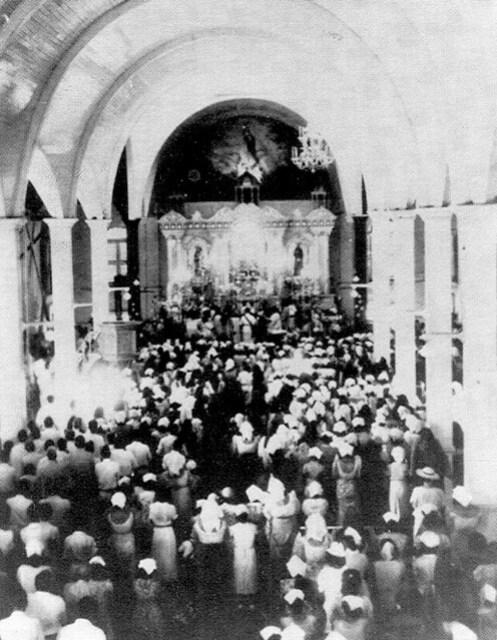 Agana Cathedral Santa Marian Kamalen Mass, 1941