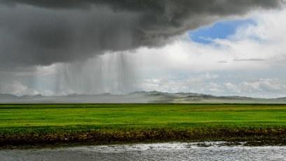 Heavy rain over Mongolia