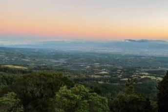 Laatste stop voor Lucia wegging en Jeroen aankwam, vulkaan Poas met uitzicht over San Jose.