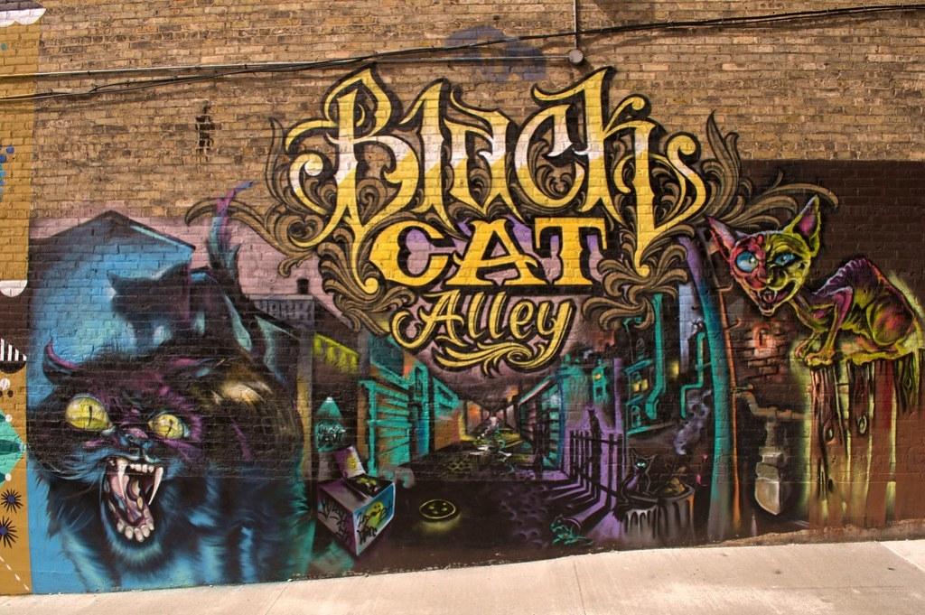 Black Cat Mural Alley