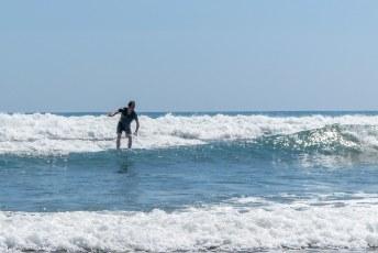 Aansluitend gingen we surfen in Dominical.