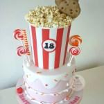 Popcorn Bucket 18th Birthday Cake Doesn T Look Like It But Flickr