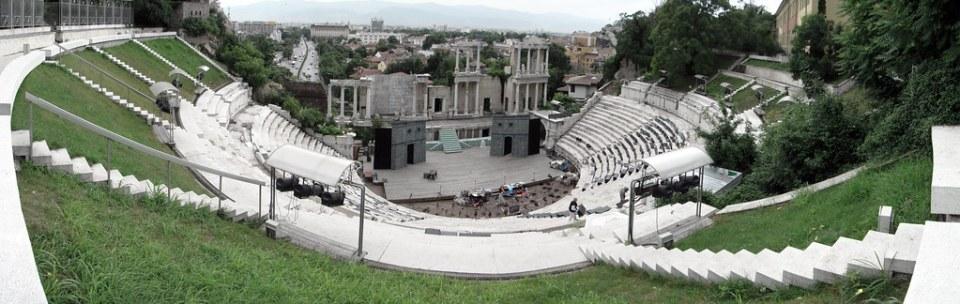 panoramica Anfiteatro Romano Plovdiv Bulgaria 02
