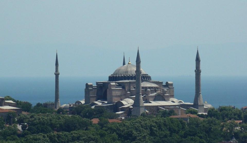 Estambul Mezquita Iglesia Santa Sofia desde Torre Galata Turquia 15