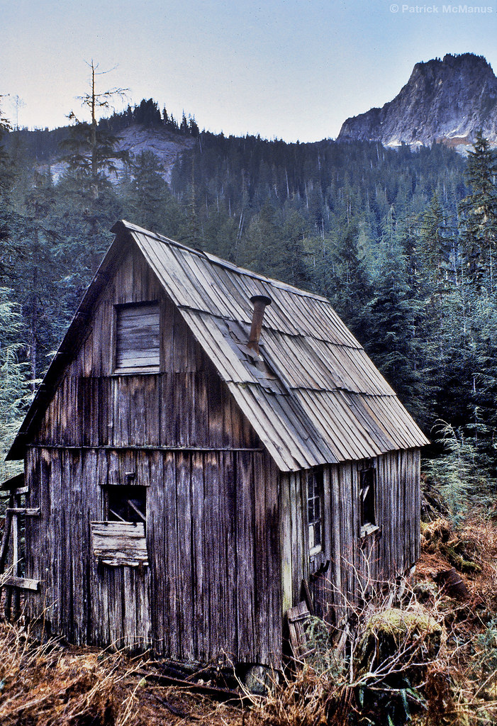 Abandoned Mining Cabin Washington State Old Miners