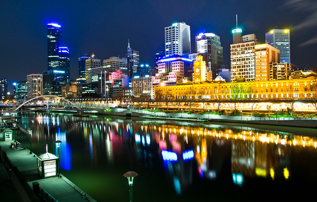 Melbourne, Australia by night