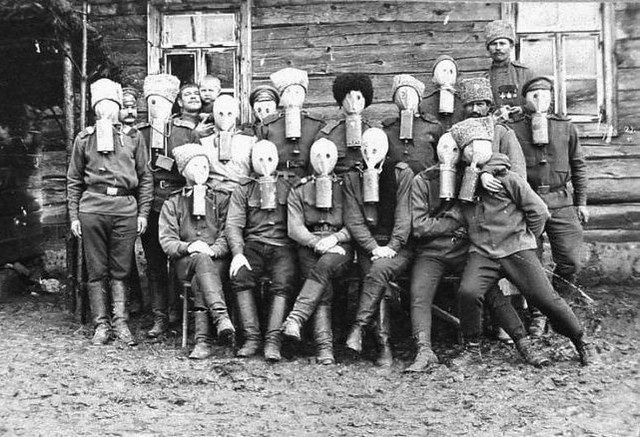 group in gas masks 2