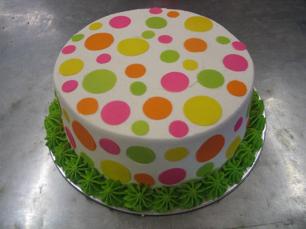 Polka Dot Birthday Cake Charly S Bakery Flickr