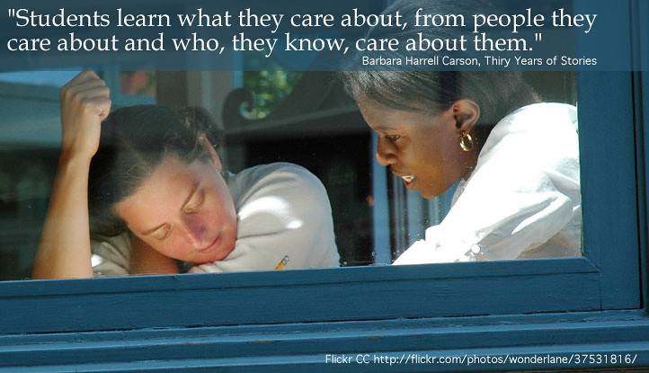 Students learn from those who care