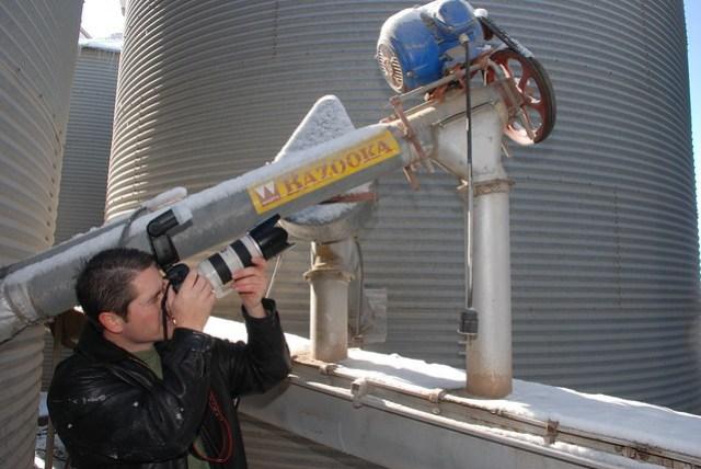 Jeremy Hall with the bazooka