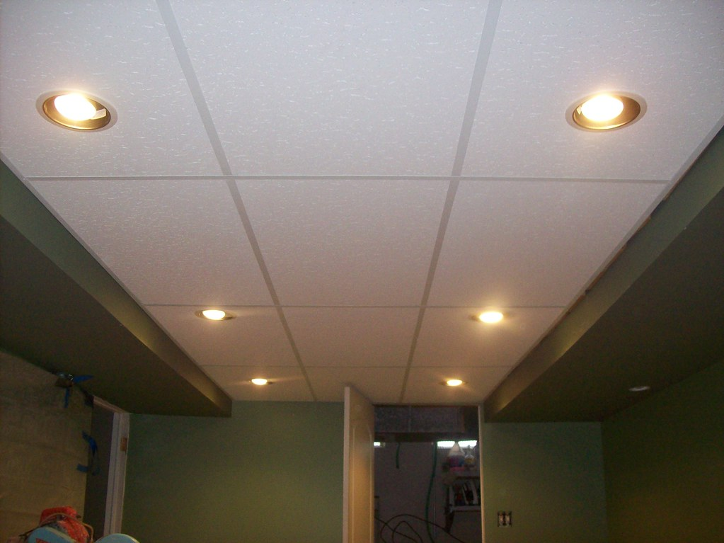 drop ceiling and recessed lights new