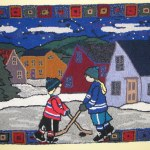 Pond Hockey Hooked Rug The Pattern Was Designed By Deanne