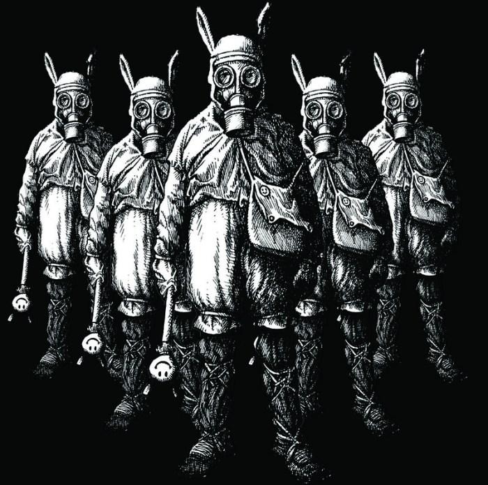 Last Under The Sun - T-shirt - 2009 - Smiley Gasmask Bunny People