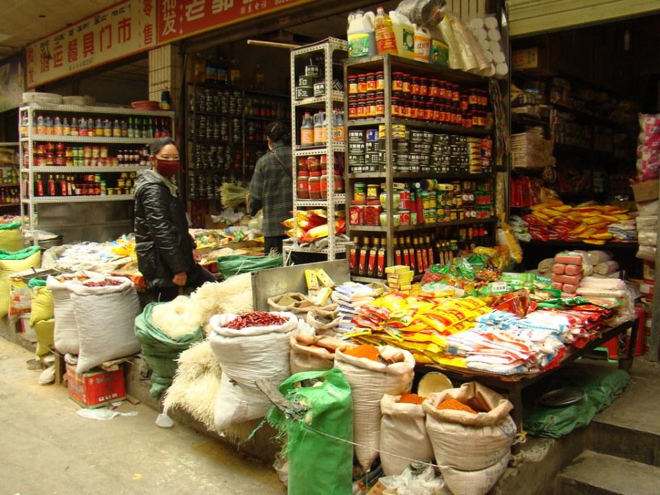 puesto del Mercado de Shigatse Tibet 04