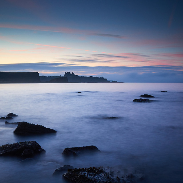 Tantallon Castle from Seacliff Beach